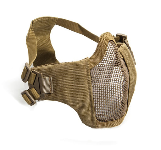 ASG Mesh Half Face Mask With Cheek Pads - Tan