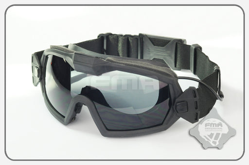 FMA Regulator Goggles with Fan - Black