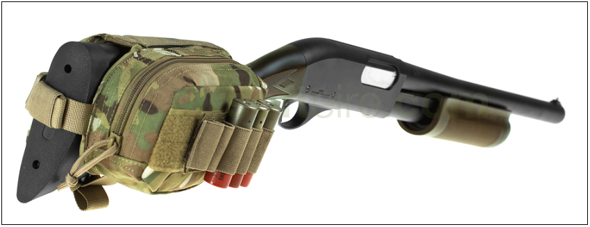 Invader Gear Shotgun Stock Shell Holder -ATP Multicam