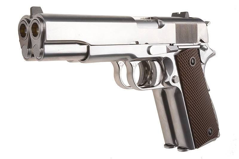 WE Double Barrel 1911 - Silver