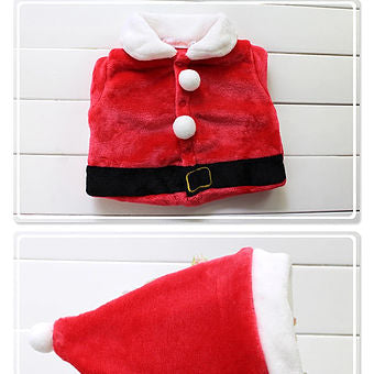 Santa Claus Top, Trousers, and Hat