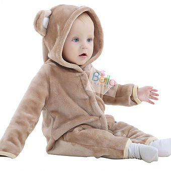 Soft Baby Onesies - Brown, White, Pink