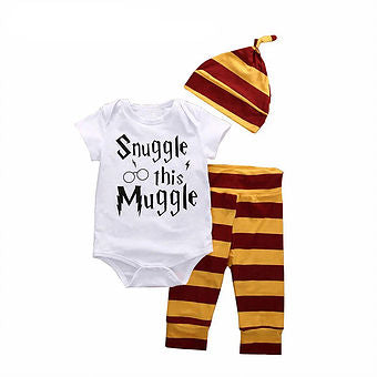 Snuggle this Muggle Top, Hat & Trousers