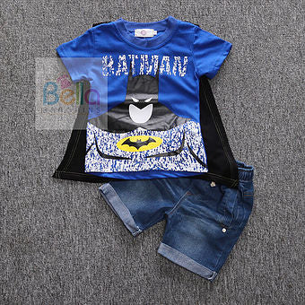 Batman Top + Elastic Jeans + Cape