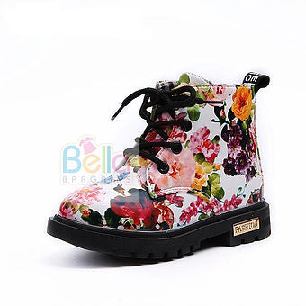 Lovely Floral Boots