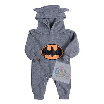 Batman Baby Outfits in Black/Grey