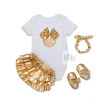 Luxury Top, Shorts, Headband, and Shoes