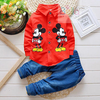 Mickey Mouse Casual Top & Trousers