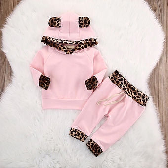 Leopard Pink Top & Trousers