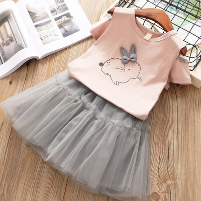 Rabbit Bow Cuteness Set