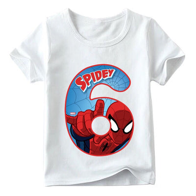 Spider-Man Birthday Shirts