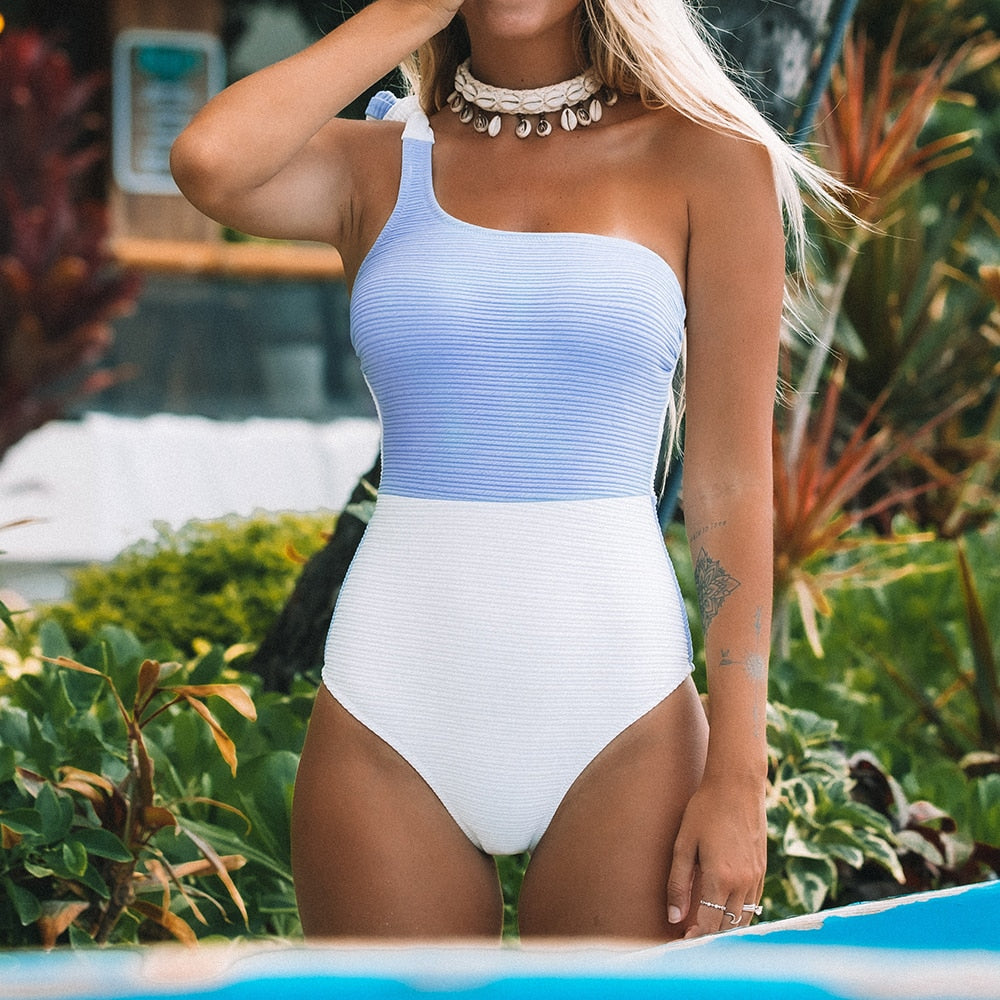 Blue Shell Swimsuit