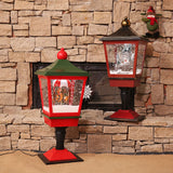 Christmas Snow Globe Lantern with Music