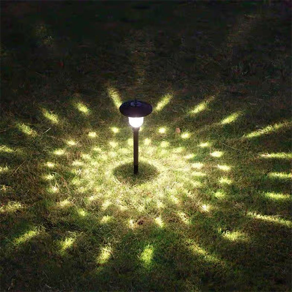 Solar-Powered Wave point ground lamp