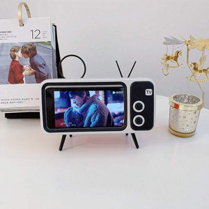 Retro TV Bluetooth Speaker+ Mobile Phone Holder