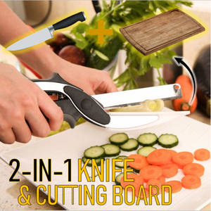 2-In-1 Kitchen Knife & Chopping Board