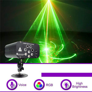 128 Pattern Stage Light Auto/Voice/Remote Control