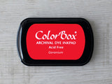 Geranium ColorBox Archival Dye Ink Pad