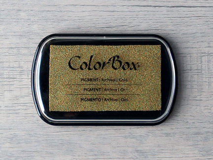 Gold ColorBox Metallic Archival Pigment Ink Pad