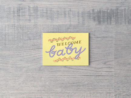Welcome Baby Enclosure Card