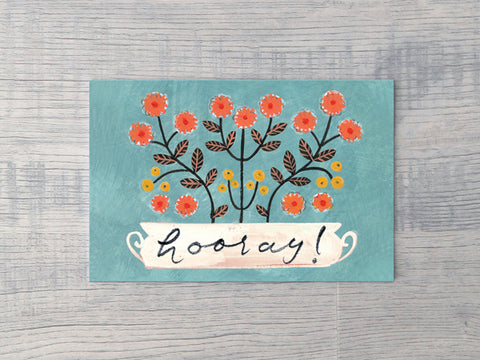 Hooray Planter Notecard