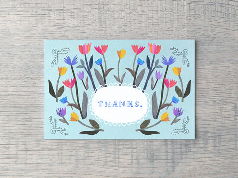Tulip Thanks Notecard
