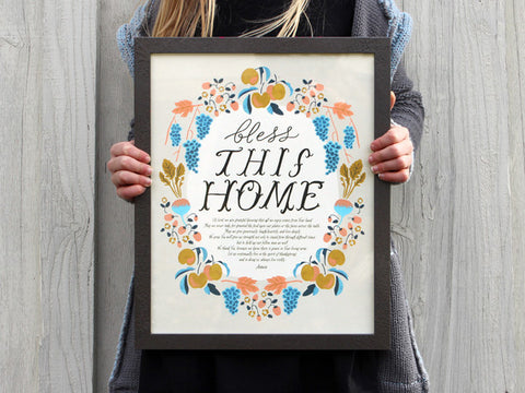 Art Print // Bless this Home