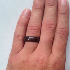 Wood Wedding Ring on Hand