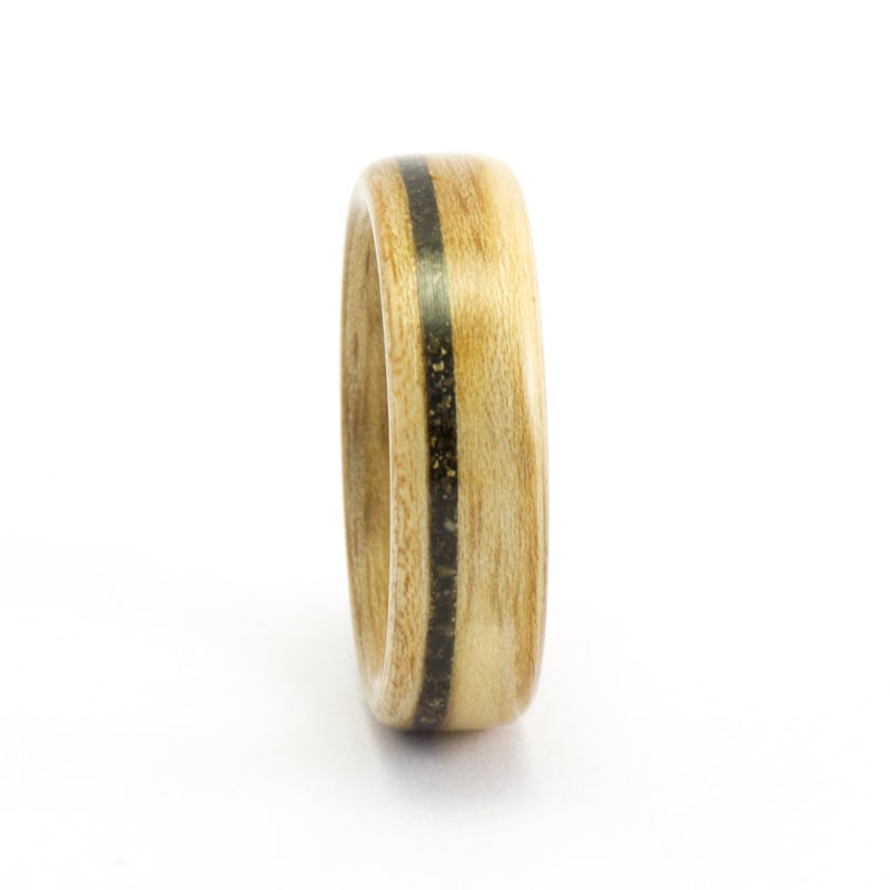 Size 8.5 Ash and Asphalt - Wooden Wedding Ring