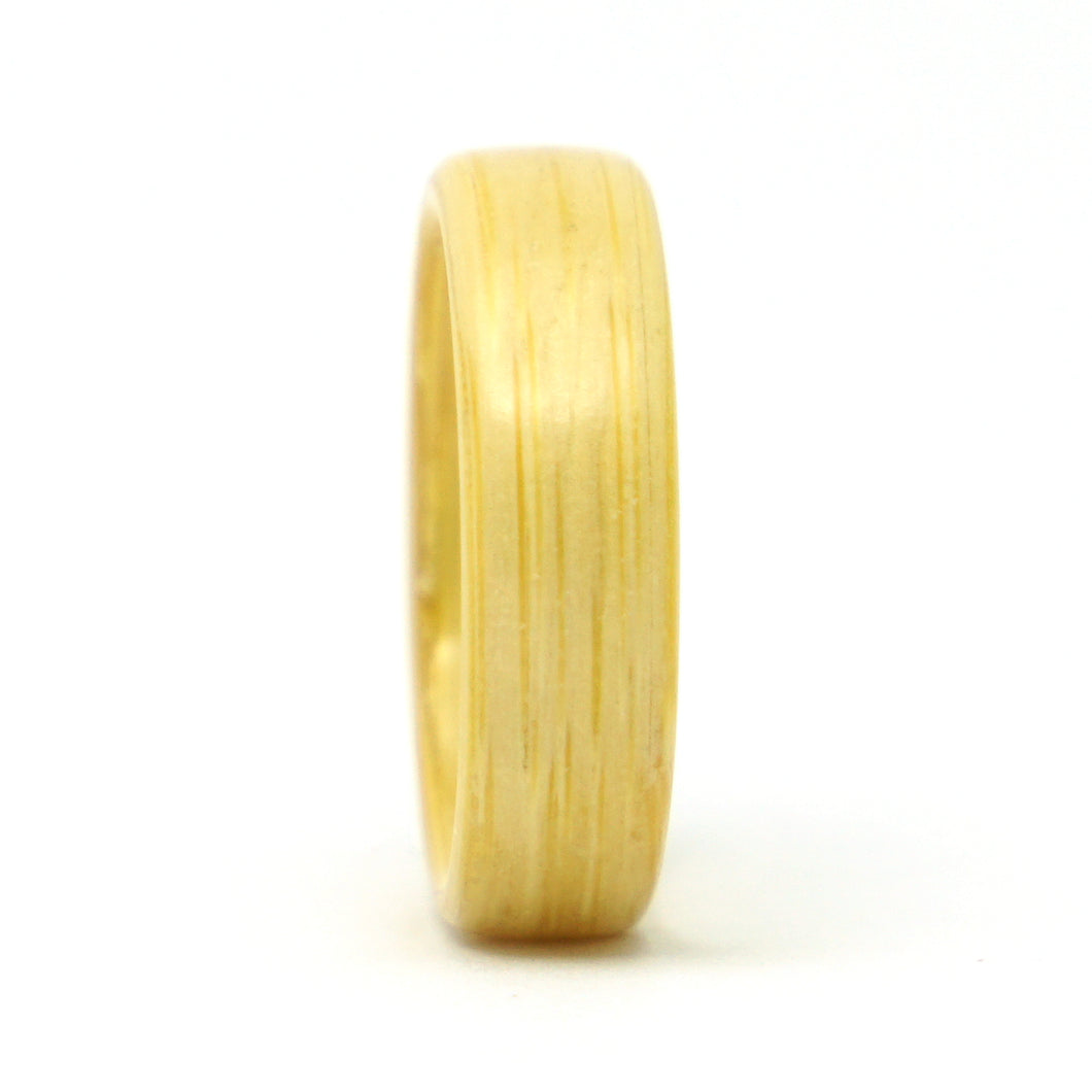 Bamboo wood wedding band by Ebeniste