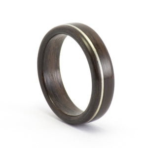 Rosewood and violin string wood ring by Ebeniste
