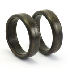 Load image into Gallery viewer, Ebony wood wedding bands by Ebeniste