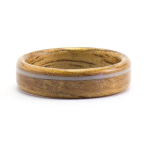 Koa and ukulele string wood ring by Ebeniste
