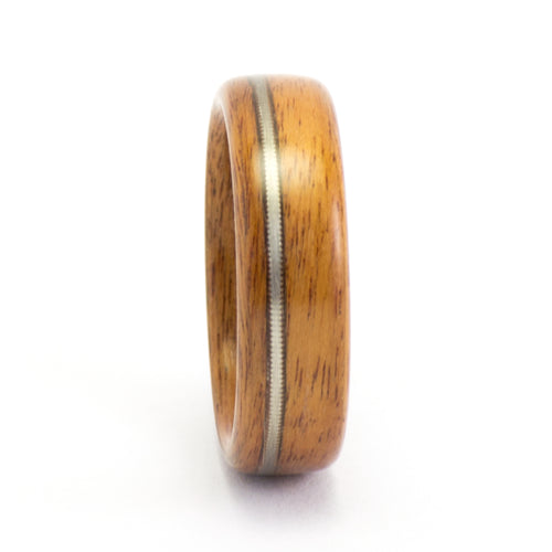 Santos rosewood and guitar string wood ring by Ebeniste