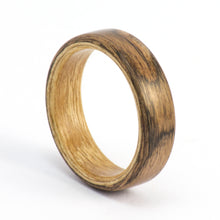 Load image into Gallery viewer, Walnut and anigre wood wedding band by Ebeniste