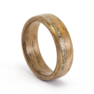 Walnut and concrete wood ring by Ebeniste