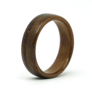 Walnut wood and meteorite ring by Ebeniste