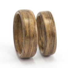 Load image into Gallery viewer, Walnut wood wedding bands by Ebeniste