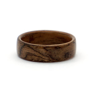 A walnut burl wood ring.