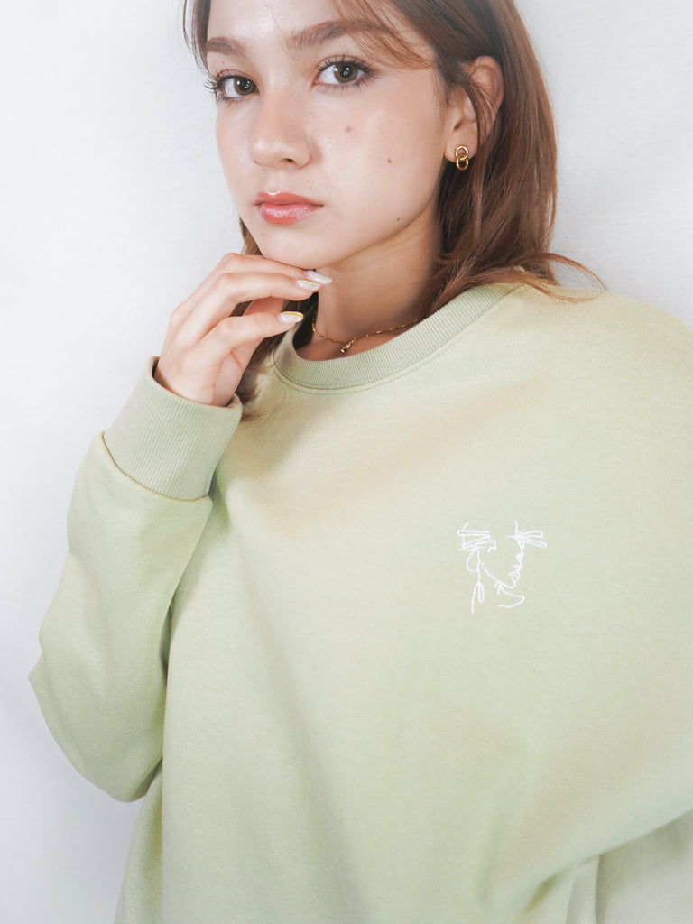 90 old school sweater / pistachio