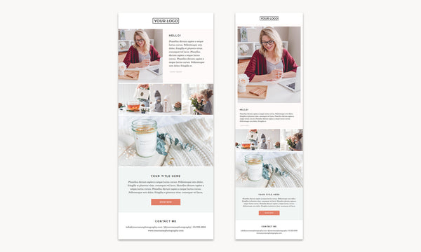 3 Email Newsletter Templates Bundle