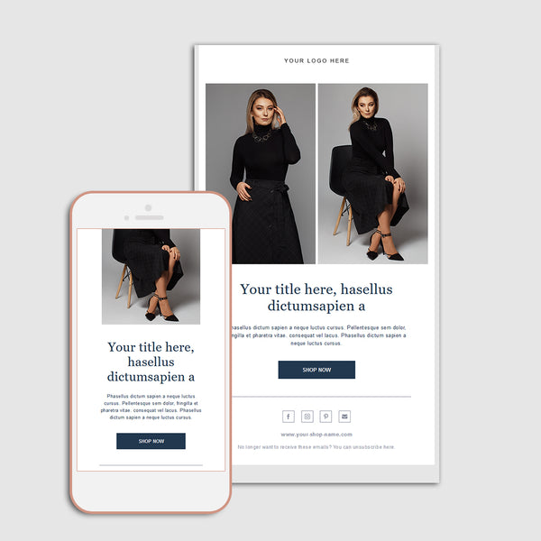 Stylish Fashion Newsletter Template