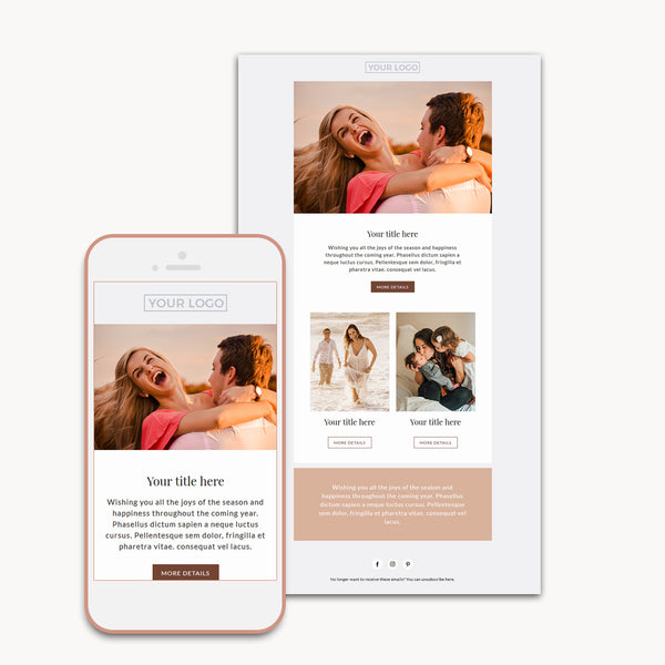 Session email newsletter template for photographers