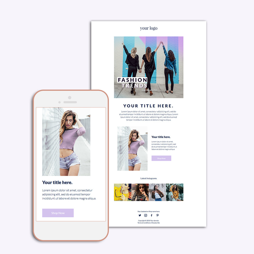 Fashion email templates