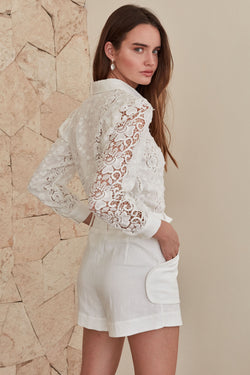 Victoria Blouse - White Floral
