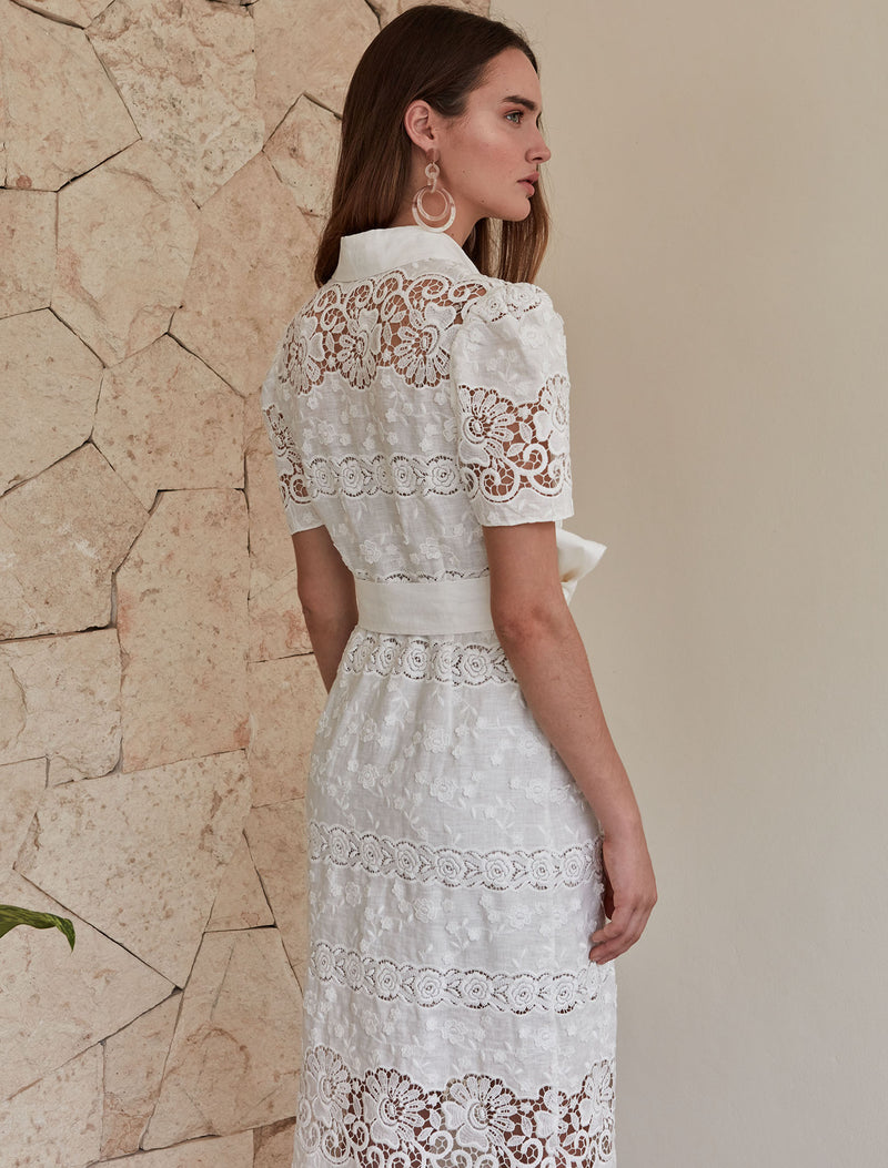 Penelope Dress - White Floral
