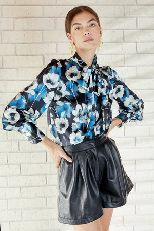 Load image into Gallery viewer, Francesca Blouse- Evening Bloom