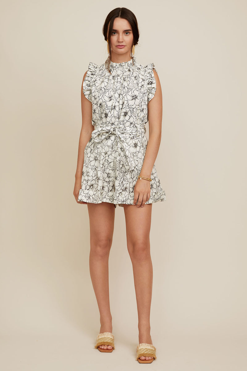 Diandra Short - Etched Floral