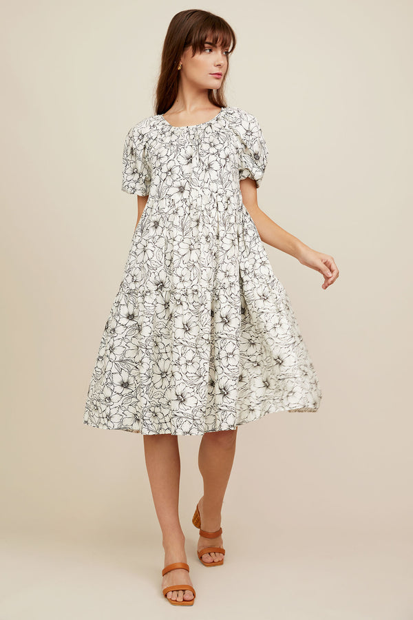 Audrey Dress - Etched Floral