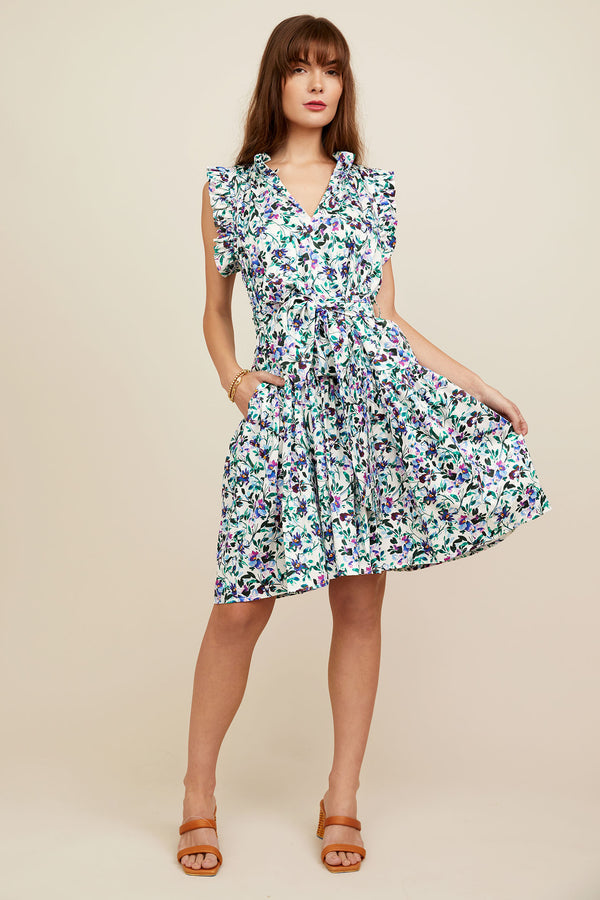 Bardot Dress - Etched Floral